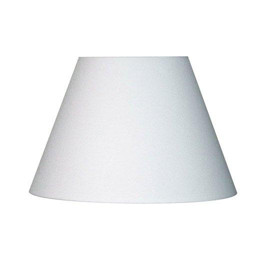 abat jour sweet 14 cm toiline blanc blanc n 0 inspire. Black Bedroom Furniture Sets. Home Design Ideas