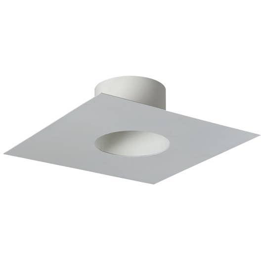 plaque de finition carree pour tubage poujoulat d 150 blanc cm leroy merlin. Black Bedroom Furniture Sets. Home Design Ideas
