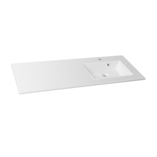 plan vasque simple modern r sine de synth se 106 cm leroy merlin. Black Bedroom Furniture Sets. Home Design Ideas