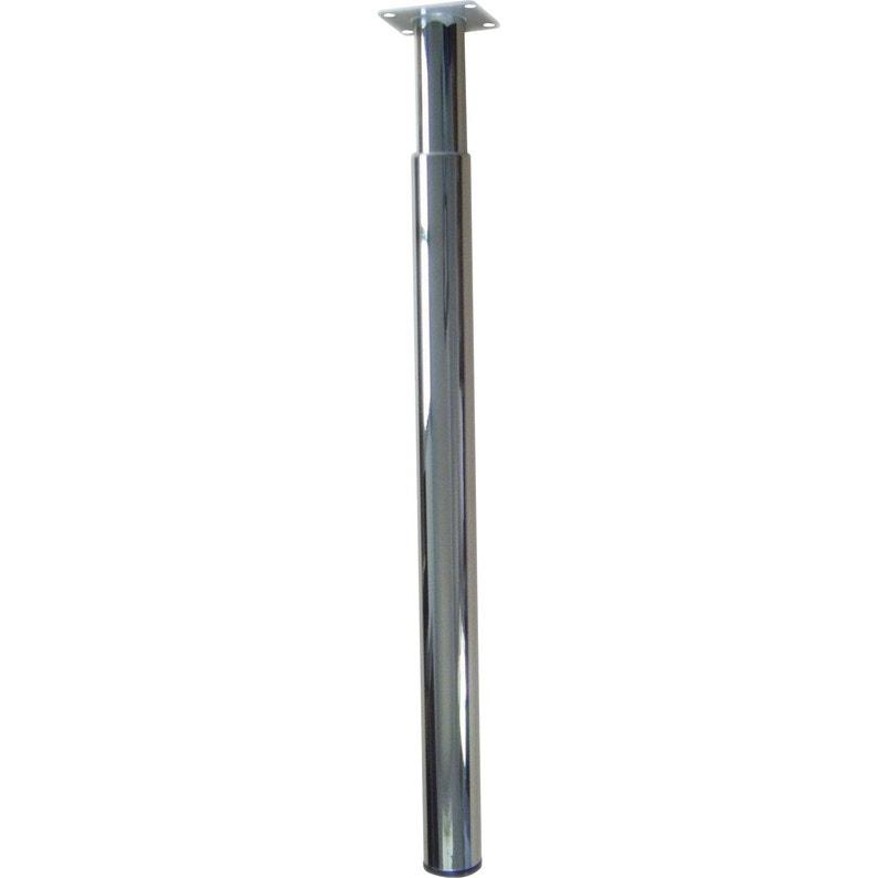 pied de plan de travail cylindrique r 233 glable m 233 tal chrom 233 gris de 70 224 110 cm leroy merlin