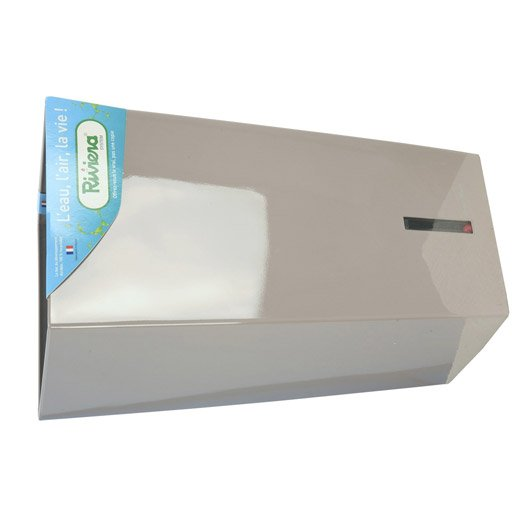 Bac r serve d 39 eau en polypropyl ne riviera l 29 x h 52 x l 29 cm taupe leroy merlin - Bac a reserve d eau ...