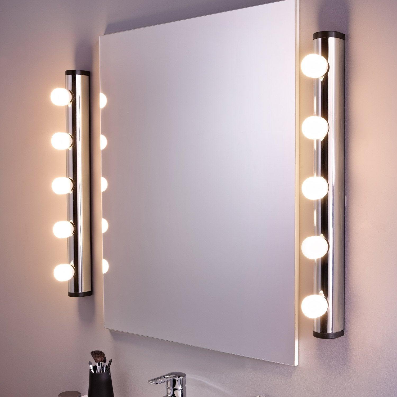 Applique liz sans ampoule 5 e14 leroy merlin for Applique salle de bain 5 ampoules