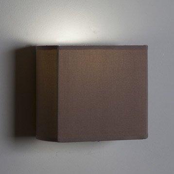 Applique Pavie, 1 x 60 W, tissu brun taupe n°3, INSPIRE
