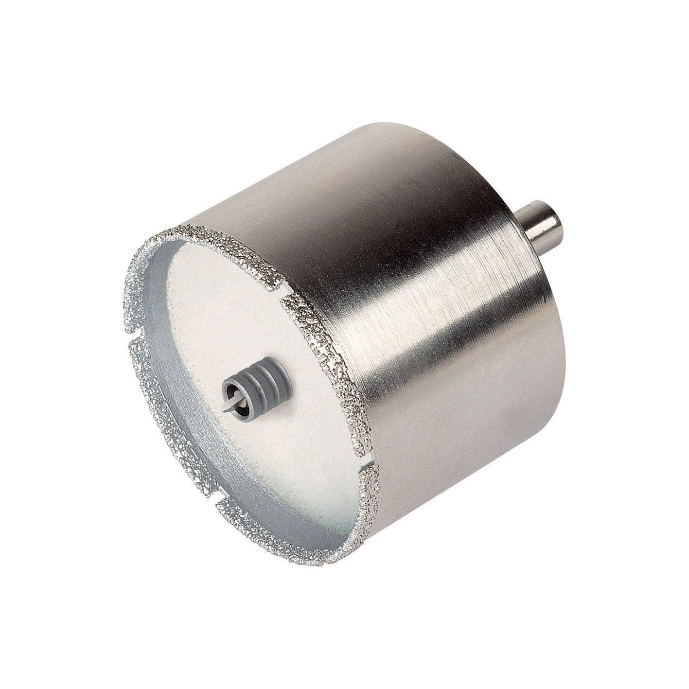 Wolfcraft 8911000 1 Tr/épan Diamant Ceramic /Ø 68 Mm Queue /Ø 10 Mm avec Foret de Centrage
