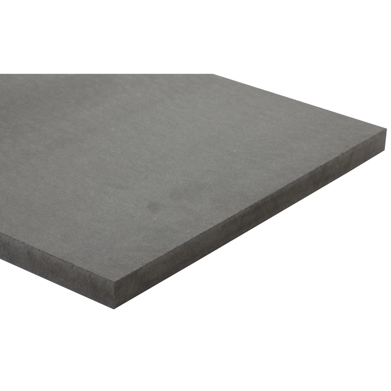 Panneau Mdf Pour Salle De Bain ~ panneau mdf m dium teint e masse gris anthracite valchromat l250