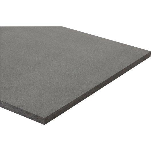 panneau mdf m dium teint e masse gris anthracite. Black Bedroom Furniture Sets. Home Design Ideas