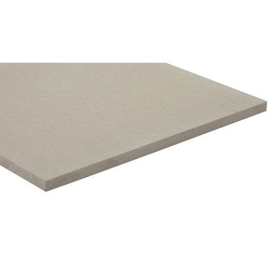 panneau mdf m dium panneau teint e masse gris clair l250 x l122 leroy merlin. Black Bedroom Furniture Sets. Home Design Ideas