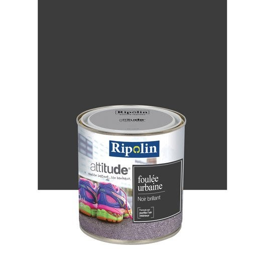 Peinture noir ripolin attitude foul e urbaine 0 5 l - Peinture ripolin avis ...