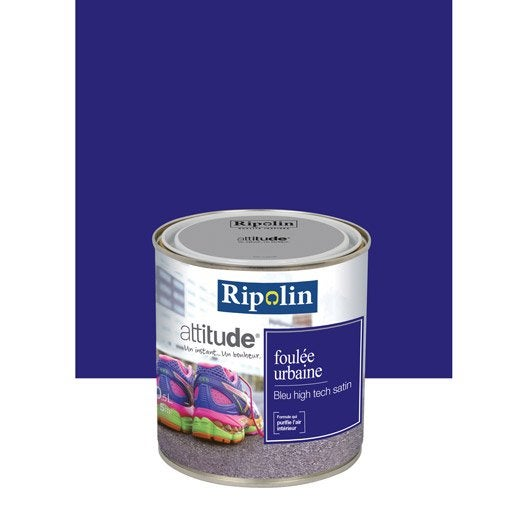 Peinture bleu high tech ripolin attitude foul e urbaine 0 for Peintures ripolin