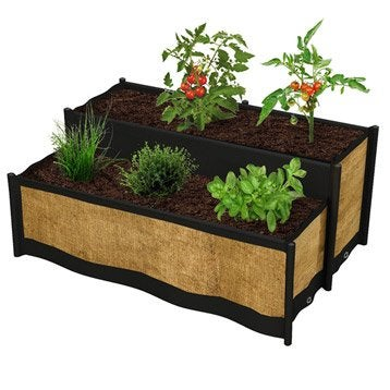 carr potager et table de rempotage bois acier leroy merlin. Black Bedroom Furniture Sets. Home Design Ideas