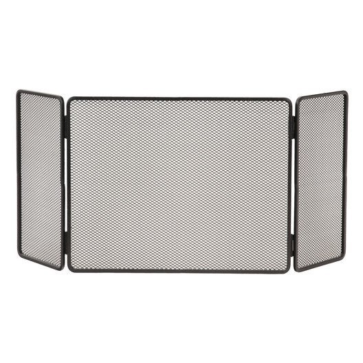 pare feu en acier peint lemarquier basique grand 3volets l20 60 20 h60 cm leroy merlin. Black Bedroom Furniture Sets. Home Design Ideas