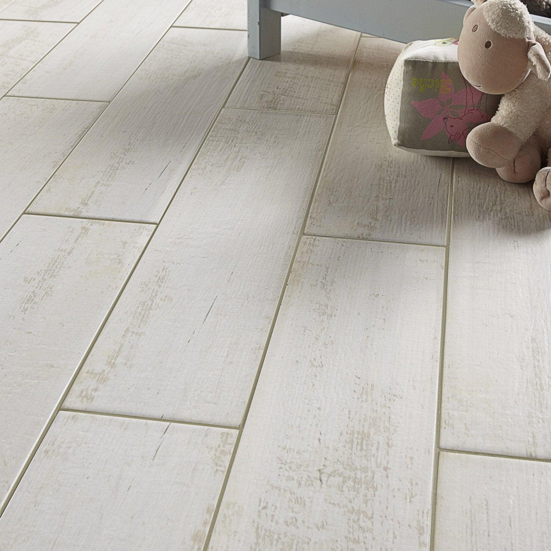 Carrelage sol et mur blanc effet bois belle le x l for Carrelage belgique