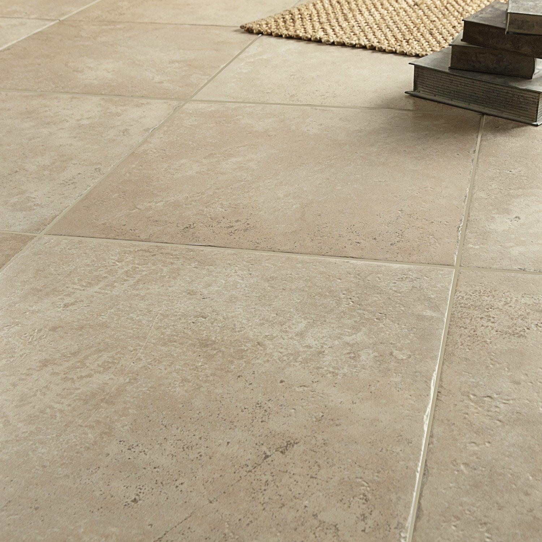 Carrelage sol et mur beige effet pierre tesalia x l for Pose carrelage pierre