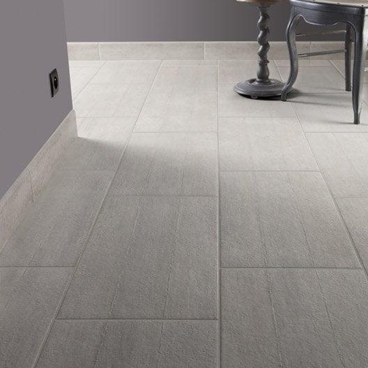 Carrelage sol et mur gris effet b ton chantier x l for Carrelage effet beton gris