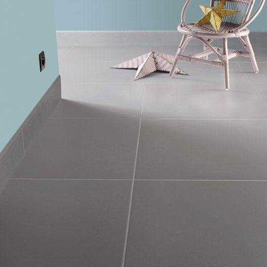 Carrelage sol et mur gris souris effet b ton fussion for Carrelage 60 x 60 gris