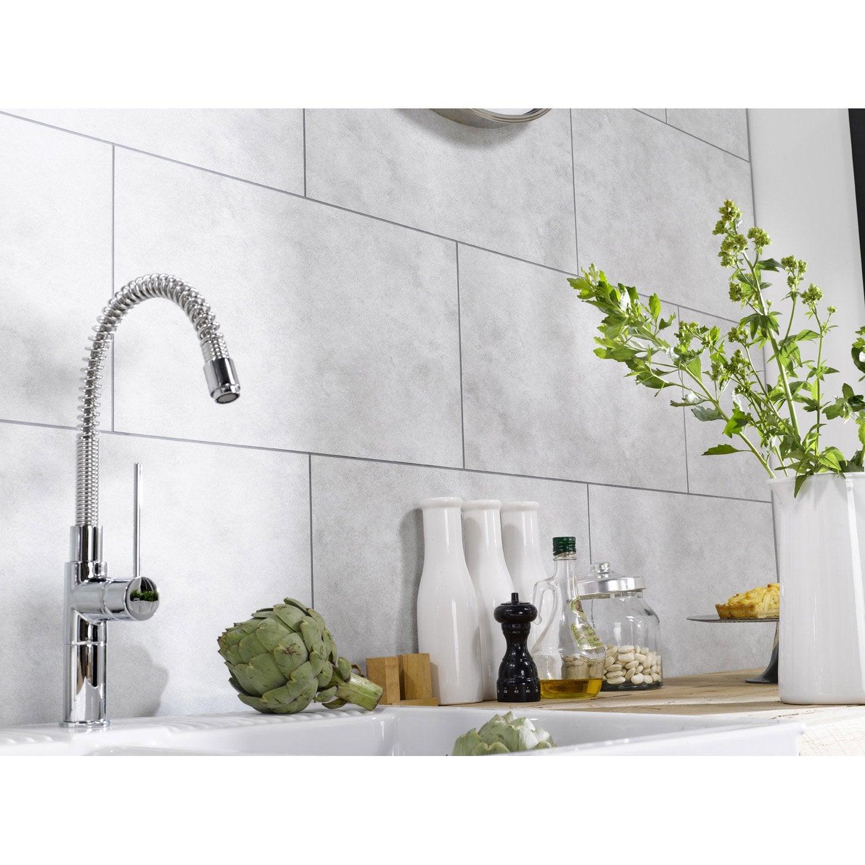 dalle murale pvc blanc dumawall l65 x l375 cm x ep5 mm - Pvc Pour Mur Salle De Bain
