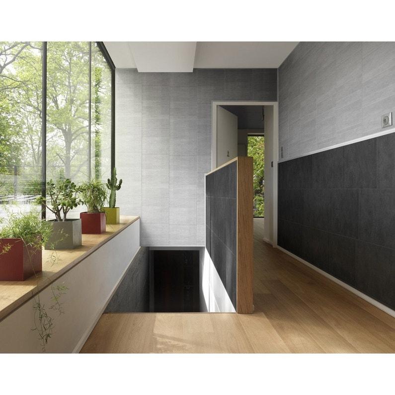lambris pvc min ral gris moyen grosfillex x cm x ep 8 mm leroy merlin. Black Bedroom Furniture Sets. Home Design Ideas
