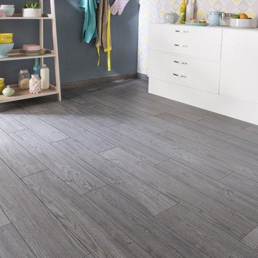 Carrelage sol et mur gris fonc effet bois islande x for Carrelage gris anthracite