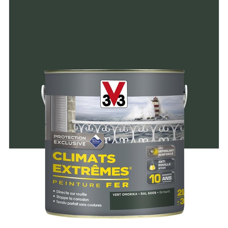 Peinture Fer Extérieur Climats Extrêmes V33 Vert Omorika 2 L