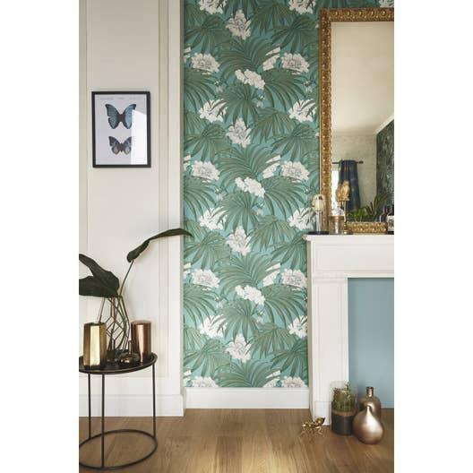 papier peint vinyle vert rasch leroy merlin. Black Bedroom Furniture Sets. Home Design Ideas
