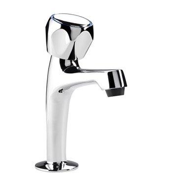 Robinet de lave-mains eau froide chromé brillant Corallo