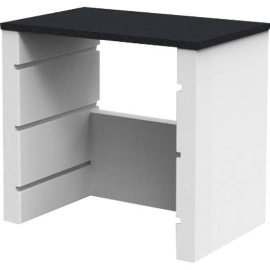 plan de travail en b ton blanc isabelle x x h. Black Bedroom Furniture Sets. Home Design Ideas