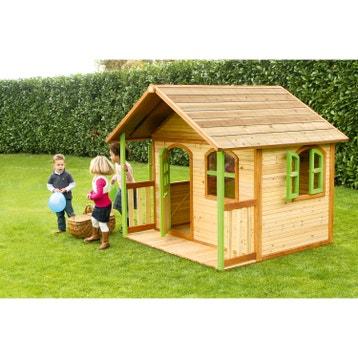 maisonnette cabane enfant en bois cabane jardin au. Black Bedroom Furniture Sets. Home Design Ideas