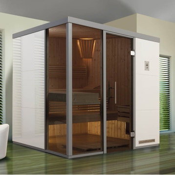 sauna traditionnel sauna au meilleur prix leroy merlin. Black Bedroom Furniture Sets. Home Design Ideas