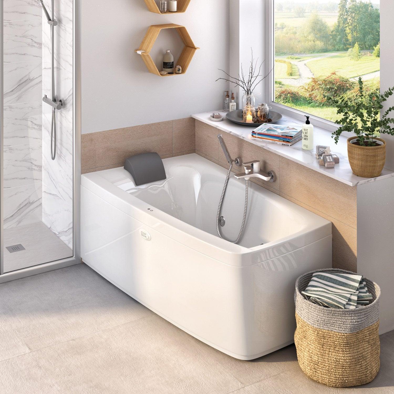 baignoire balneo asymetrique baignoire balneo leroy. Black Bedroom Furniture Sets. Home Design Ideas