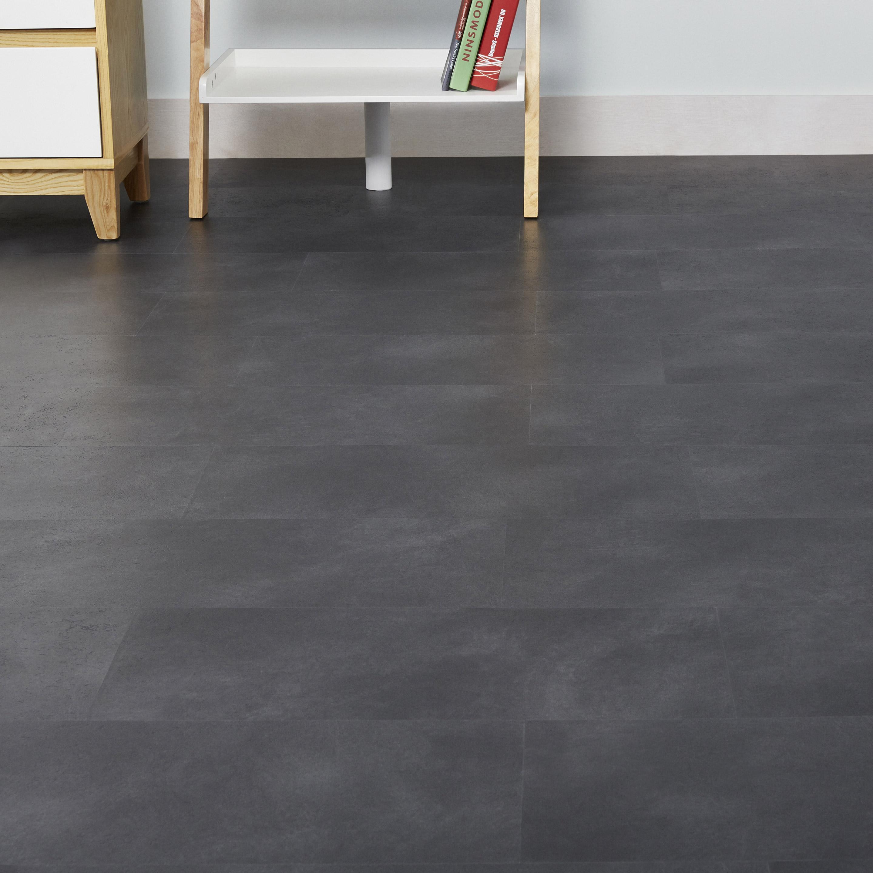 Dalle PVC clipsable effet beton anthracite ARTENS Moods