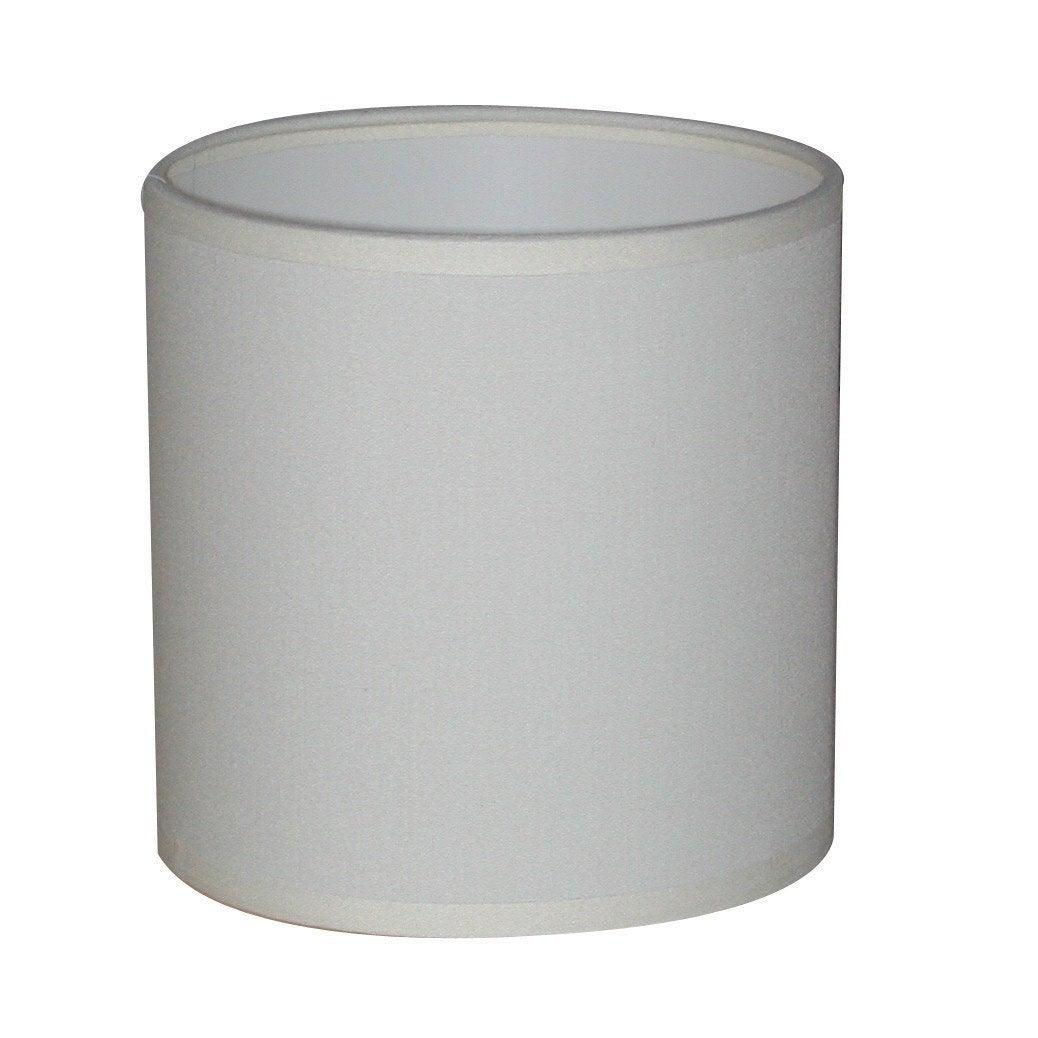 Abat-jour Tube, 30 cm, toiline, blanc-blanc n°0 INSPIRE | Leroy Merlin