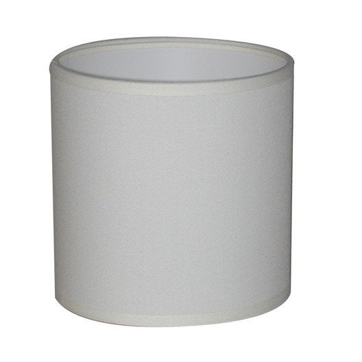 Abat jour tube diam 35 cm toiline blanc blanc n 0 inspire leroy merlin - Abat jour suspension leroy merlin ...