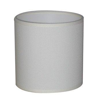 Abat-jour Tube, 35 cm, toiline, blanc-blanc n°0 INSPIRE
