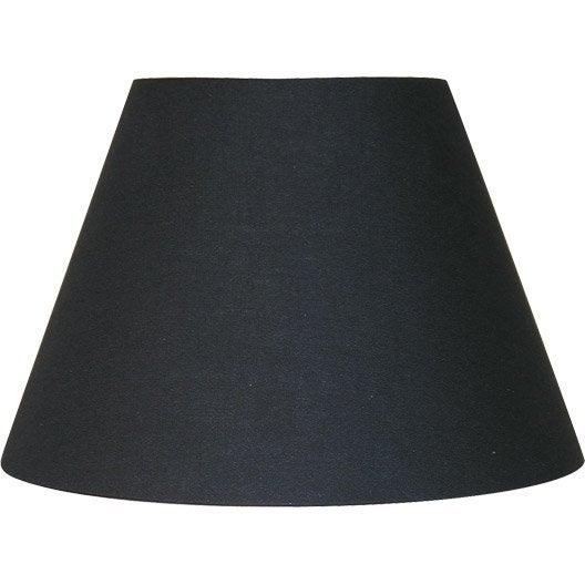 abat jour sweet 22 cm coton noir noir n 0 inspire. Black Bedroom Furniture Sets. Home Design Ideas