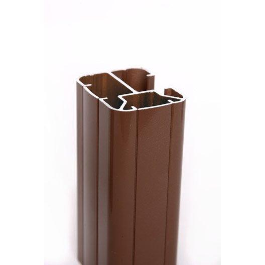 poteau en h marron en aluminium leroy merlin. Black Bedroom Furniture Sets. Home Design Ideas