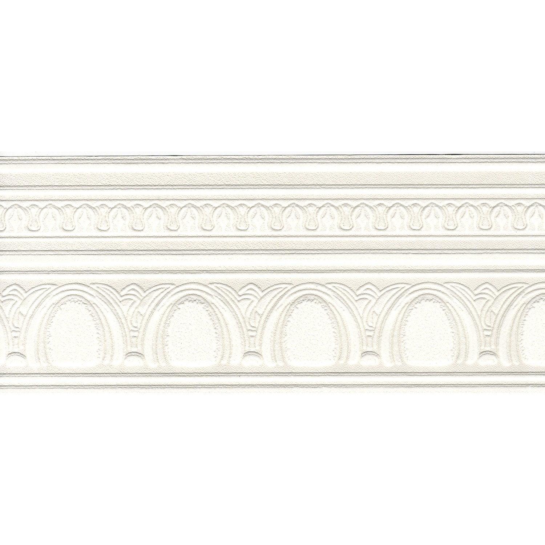 Frise vinyle expansé papier Volute L.5 m x l.13 cm | Leroy Merlin