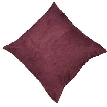 Coussin Manchester, violet figue n°1, 45 x 45 cm