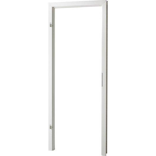 kit d 39 brasement blanc pour porte naples de 83cm droite leroy merlin. Black Bedroom Furniture Sets. Home Design Ideas