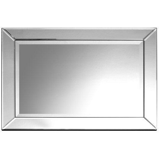 Miroir bizo argent 50x70 cm for Miroir 50x70 sans cadre