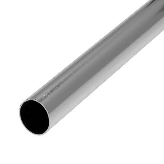 Barre de penderie d18 mm ronde gris 2 m leroy merlin - Barre de penderie ...