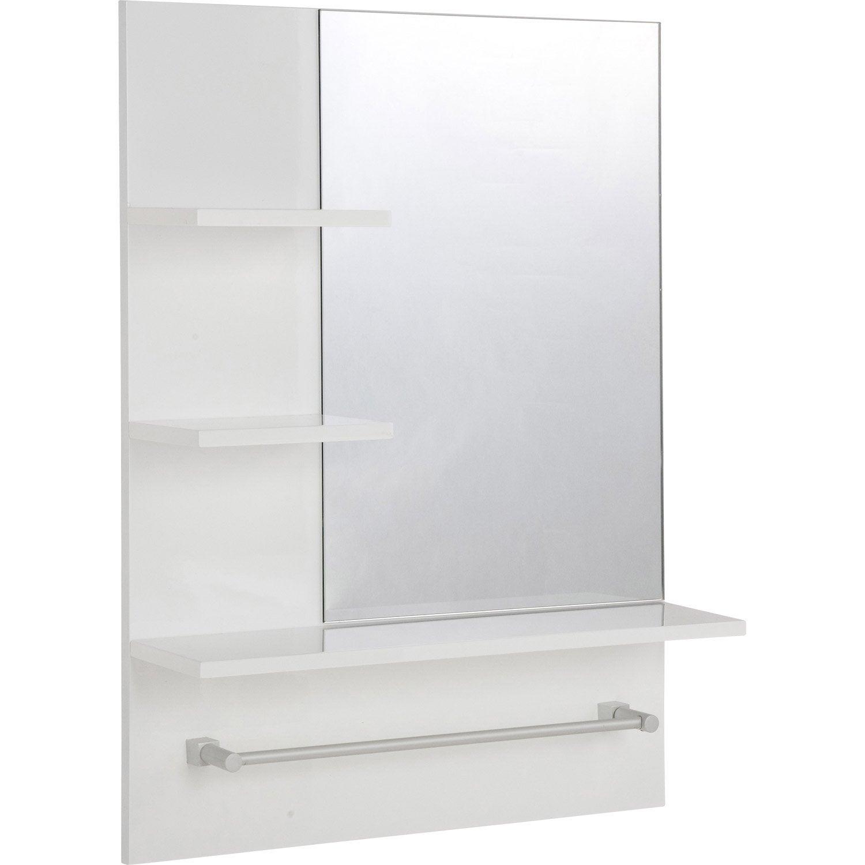 Miroir non lumineux encadré rectangulaire l.60 x L.80 cm Simply ...
