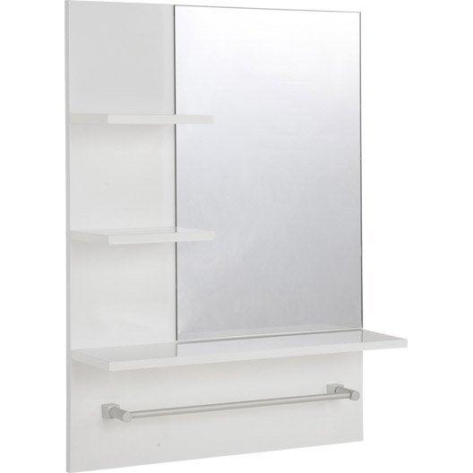 Miroir non lumineux encadr rectangulaire x cm for Miroir encadre