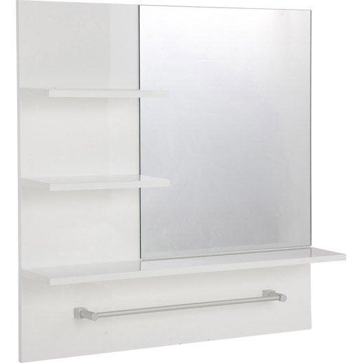 Miroir non lumineux encadr carr x cm simply for Miroir encadre