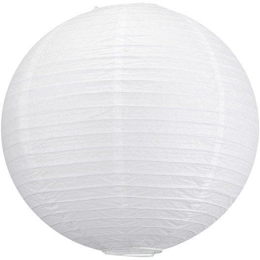 suspension sans cordon enfant goa papier blanc 1 inspire leroy merlin. Black Bedroom Furniture Sets. Home Design Ideas