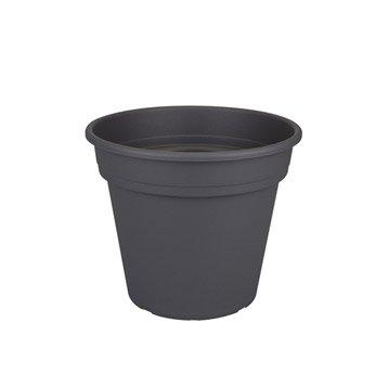 Pot plastique NATERIAL Diam.29.79 L.29.79 x l.29.79 x H.25.15 cm anthracite