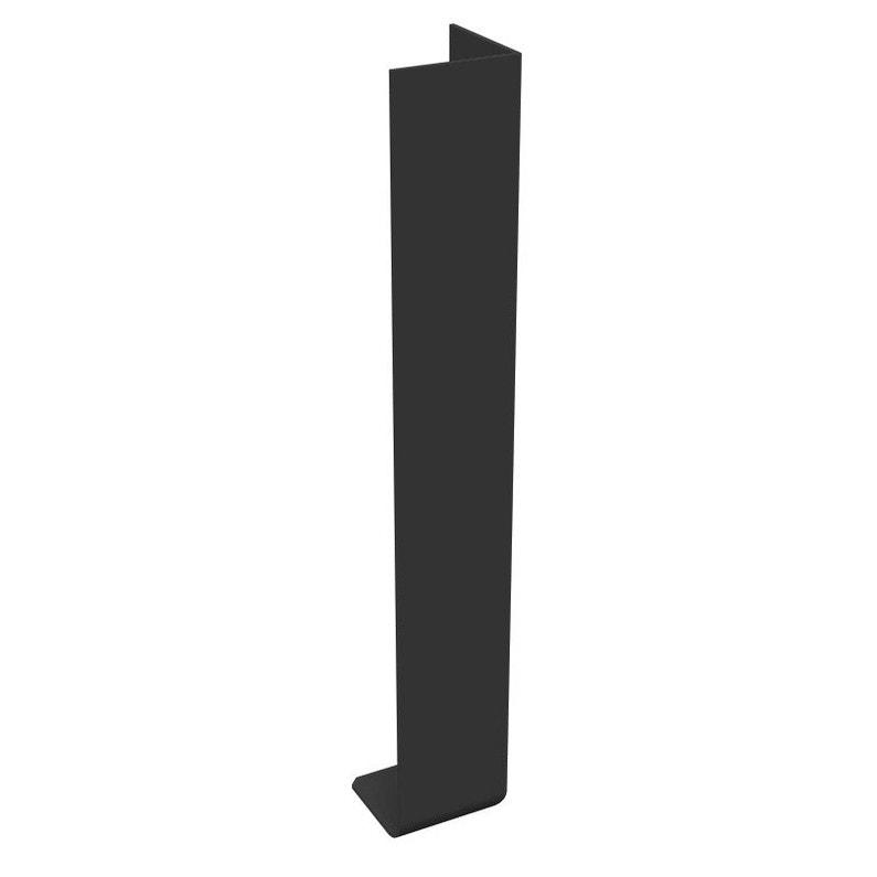 Angle Extérieur Pour Bandeau De Rive N65 50bllm Noir Pvc L300 Mm