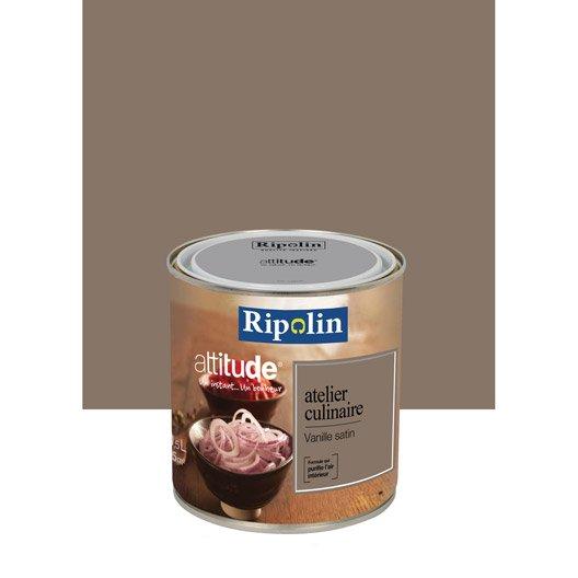 Peinture vanille ripolin attitude atelier culinaire 0 5 l leroy merlin - Peinture ripolin avis ...