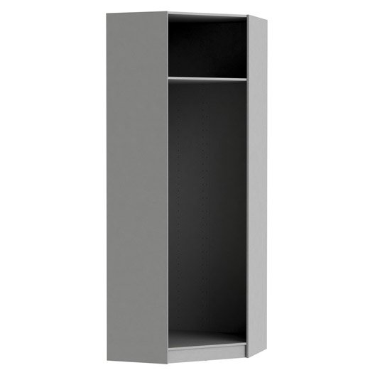 caisson d 39 angle spaceo home 240 x 89 x 89 cm anthracite leroy merlin. Black Bedroom Furniture Sets. Home Design Ideas
