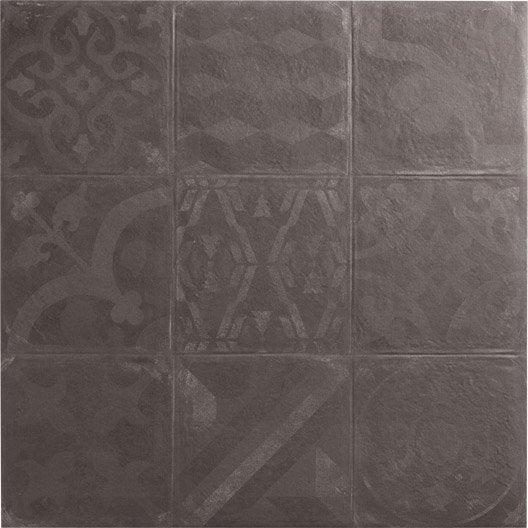 Carrelage sol et mur graphite effet b ton cosy x l for Glissance carrelage