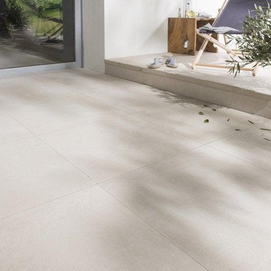 Carrelage sol ivoire effet b ton houston x cm for Carrelage 60 x 60